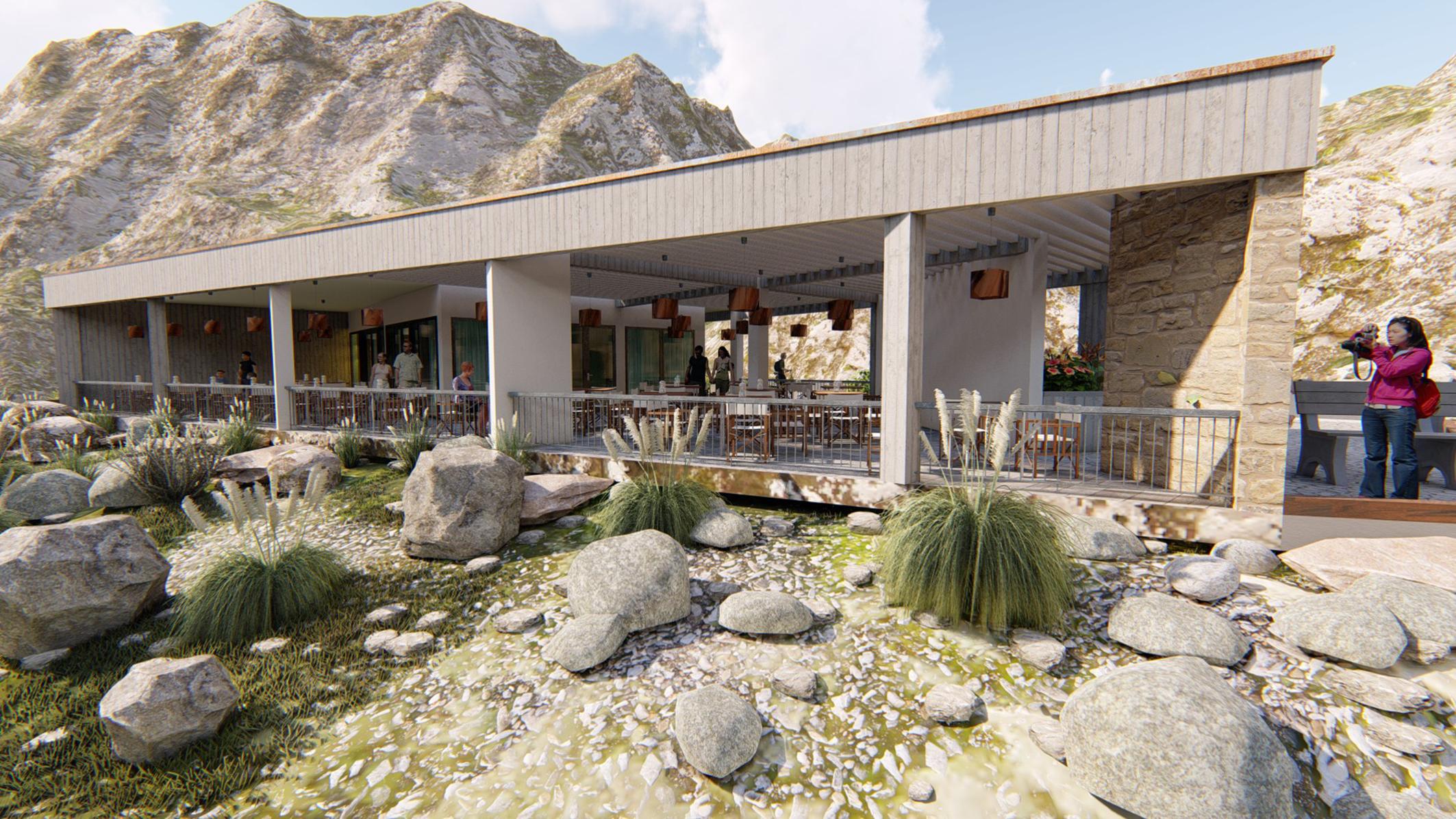 Restoran Vidikovac iznad jezera Slano u Nikšiću